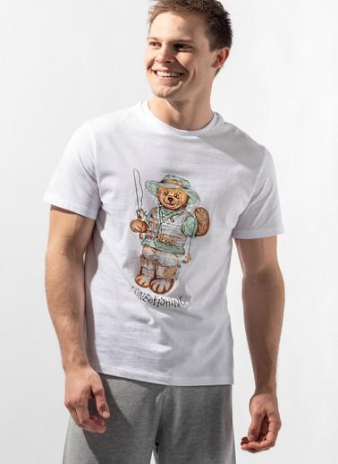 Katia & Bony Teddy Bear Erkek Şort Takım  Beyaz